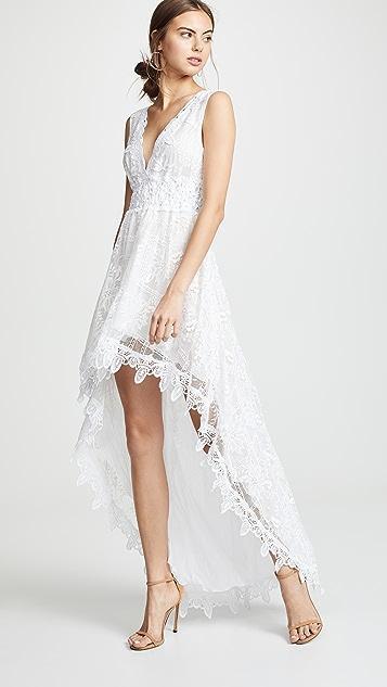 Temptation Positano Асимметричное платье Prato с V-образным вырезом