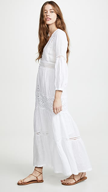 Temptation Positano Макси-платье Lecce на пуговицах спереди