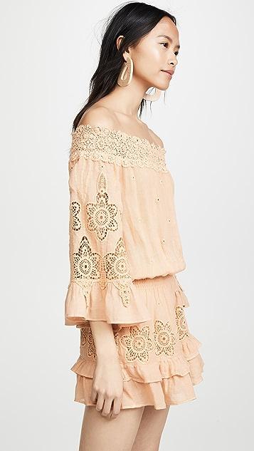 Temptation Positano Asti Off Shoulder Flare Sleeve Mini Dress