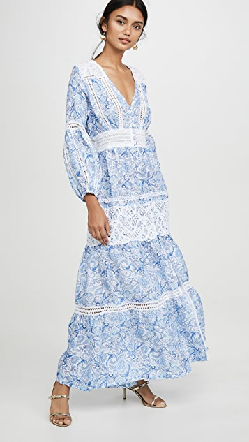 Temptation Positano Long Front Button Down Dress