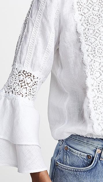 Temptation Positano Bell Sleeve Linen Top
