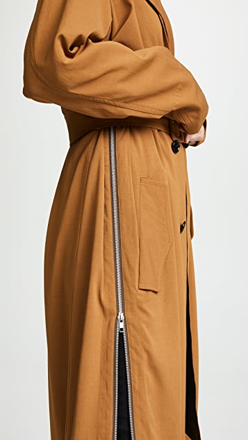Toga Pulla Rayon Twill Trench Coat