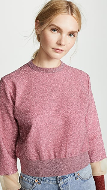 Toga Pulla Lame Knit Pullover