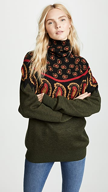 Toga Pulla Wool Jacquard High Neck Sweater