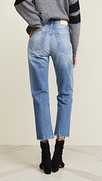 TRAVE Harper Crop Slim Straight Jeans