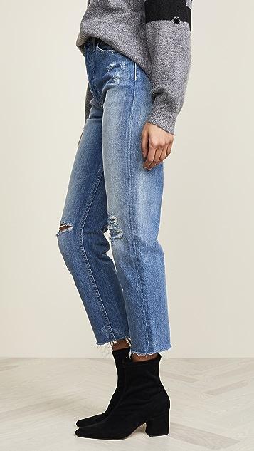 TRAVE Укороченные узкие прямые джинсы Harper