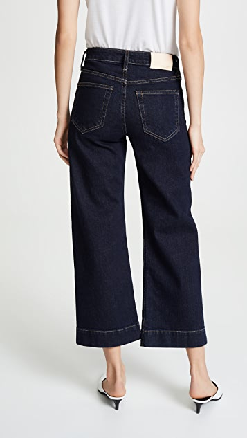 TRAVE Audrey Cropped Wide Leg Jeans