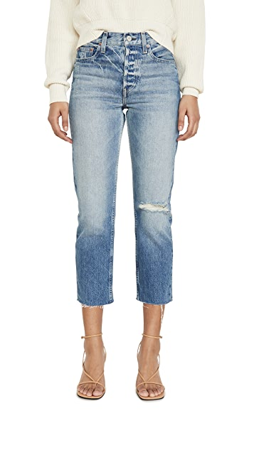 TRAVE Constance Cropped Straight Jeans