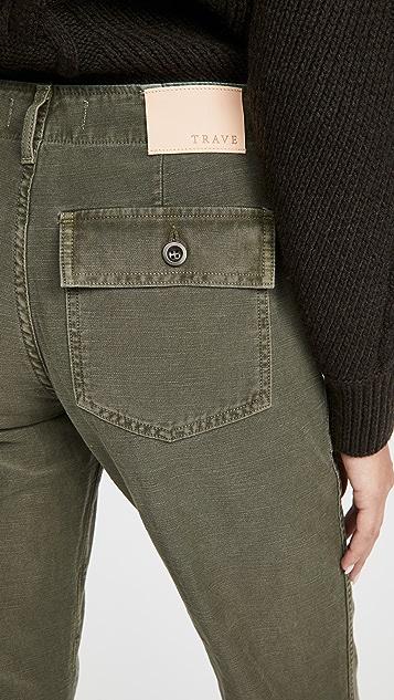 TRAVE Gwen 中腰直筒裤