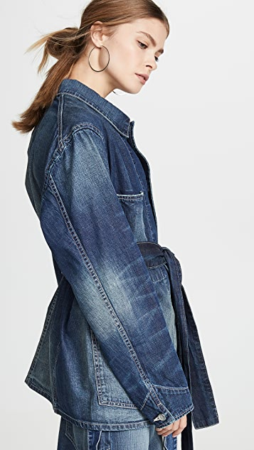 TRE by Natalie Ratabesi Aaliyah 牛仔布裹身腰部夹克