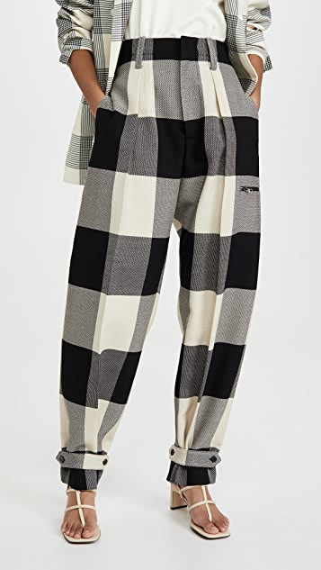 TRE by Natalie Ratabesi Check Trousers