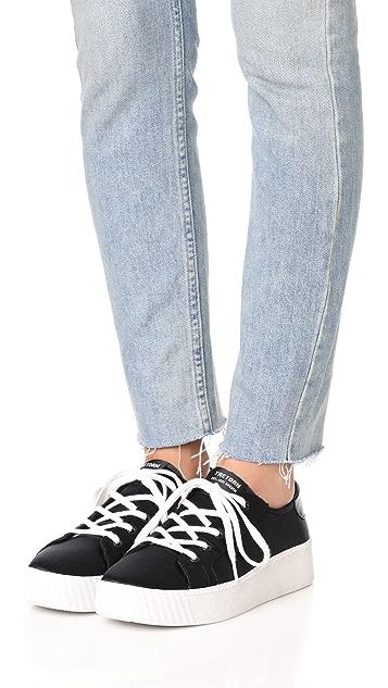 Tretorn Blaire Satin Platform Sneakers