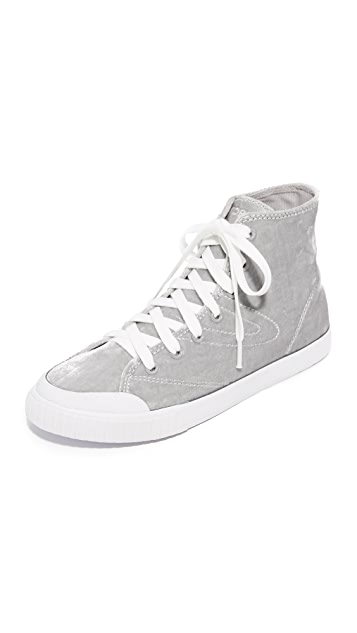 Tretorn Marley Velvet High Top Sneakers