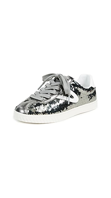 Tretorn Camden Metallic Lace Up Sneakers