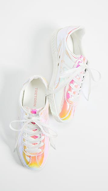Iridescent Lace Up Sneakers | SHOPBOP