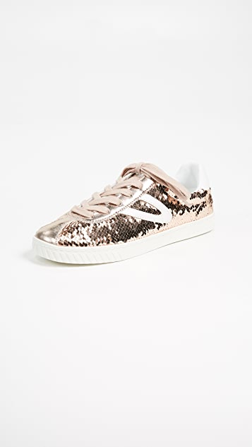 Tretorn Camden Metallic Lace Up Sneakers