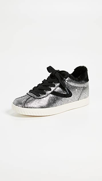 Tretorn Callie Lace Up Metallic Sneakers