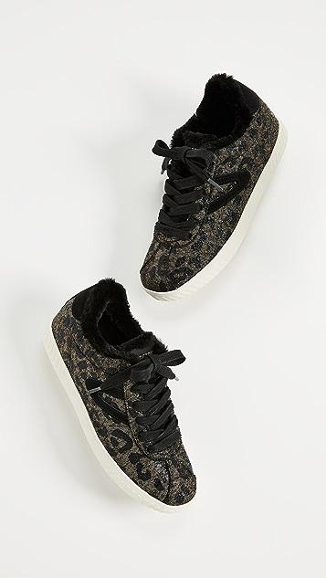 Tretorn Callie Lace Up Metallic Sneakers