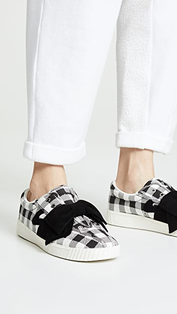 Tretorn Nylite Bow Gingham Sneakers