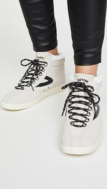 Tretorn Nylite 50 High Top Sneakers