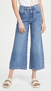 Triarchy High Rise Crop Wide Leg Jeans