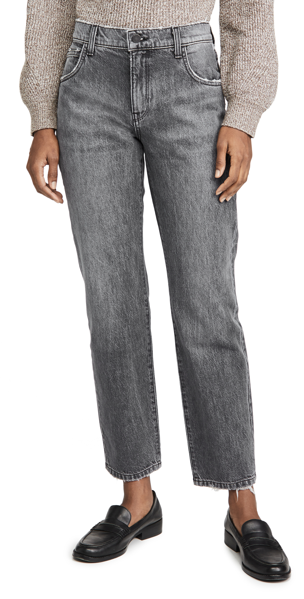 Triarchy Black High Rise Stove Pipe Jeans