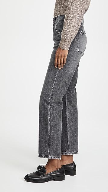 Triarchy 黑色高腰烟管牛仔裤