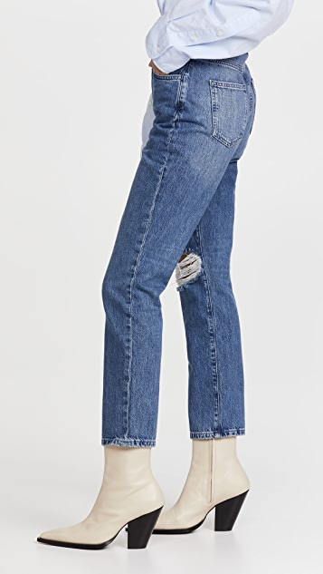 Triarchy High Rise Stove Pipe Jeans