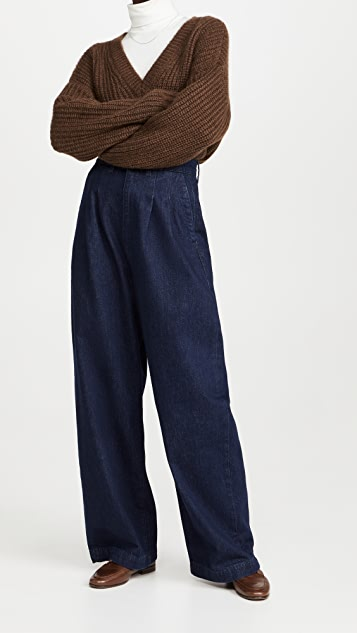 Triarchy High Waisted Pleated Pants
