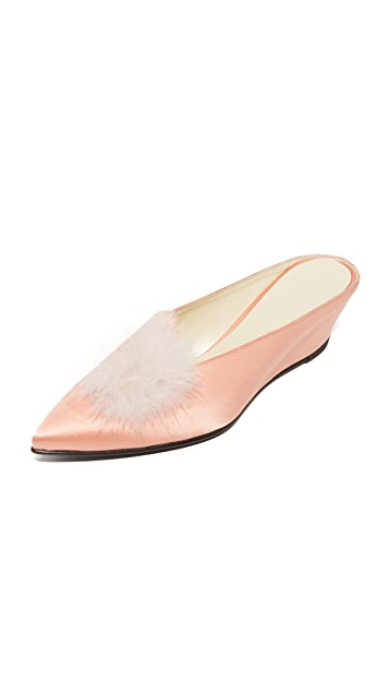Trademark Castainge Slides with Marabou Feathers