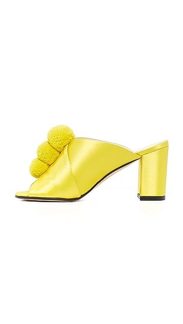 Trademark Туфли без задника с помпонами