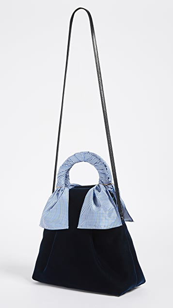 Trademark Hazel Velvet Shopper Bag
