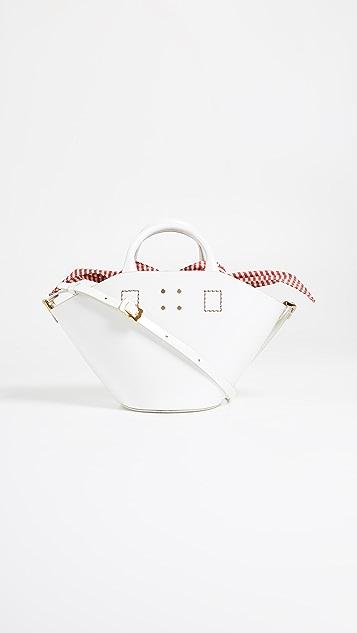 Trademark Small Leather Basket Bag