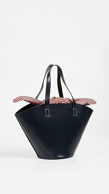 Trademark Large Leather Basket Bag