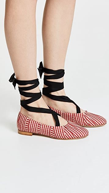 Trademark Sylvie Gingham Ballet Flats