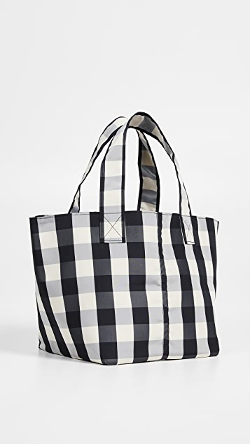 Trademark Small Gingham Grocery Tote