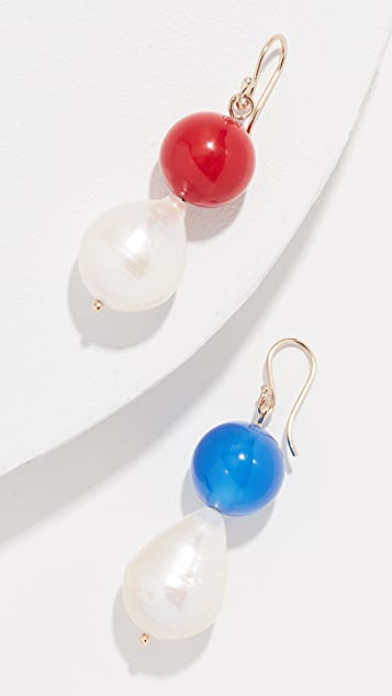 Trademark Vermeer Baroque Freshwater Cultured Pearl Earrings
