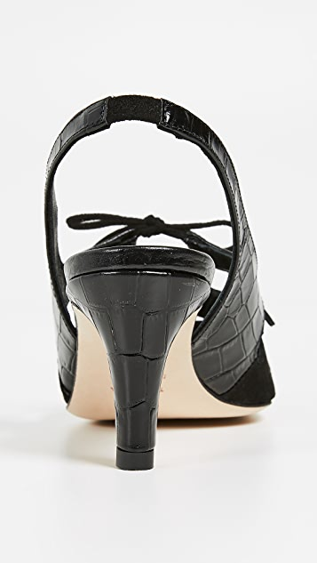 Trademark Туфли-лодочки Anita с ремешком на пятке и тиснением под крокодила
