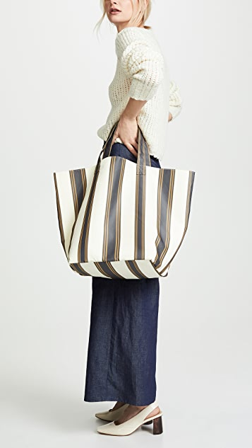 Trademark Stripe Large Grocery Tote