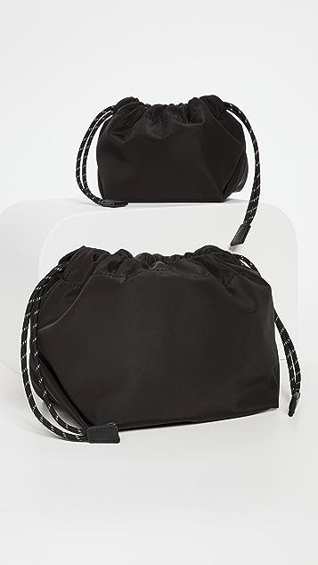Transience Drawstring Pouch Set - Core Black Nylon