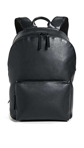 Troubadour Leather Ziptop Backpack