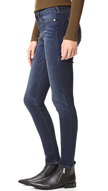 True Religion Jennie Curvy Mid Rise Skinny Jeans