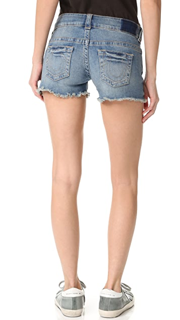 True Religion Keira Low Rise Shorts
