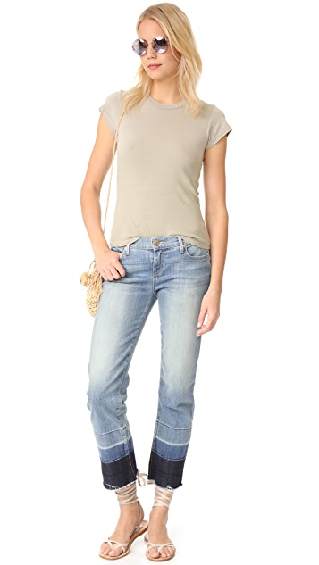 True Religion Mid Rise Relaxed Straight Jeans