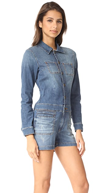 True Religion Long Sleeve Romper