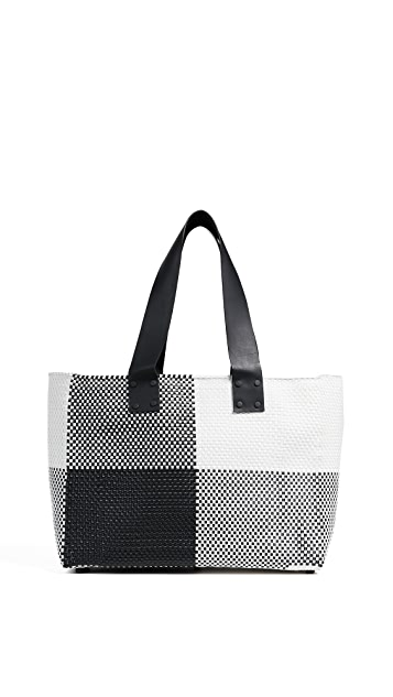 Truss Large Tote Bag with Leather Handle