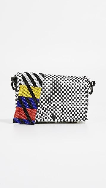 Truss Bead Strap Baguette Bag