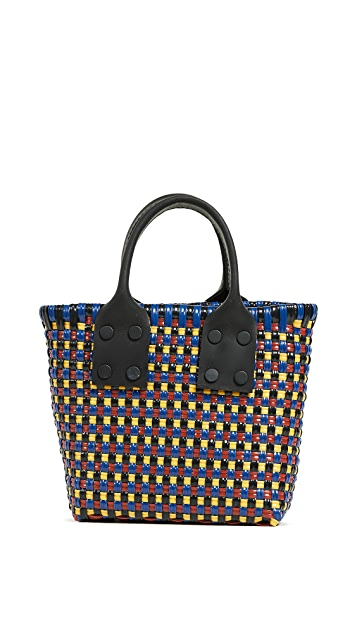 Truss Micro Tote with Leather Handle