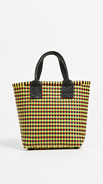 Truss Small Tote with Leather Handle