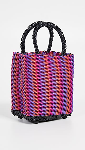 Truss Миниатюрная объемная сумка с короткими ручками